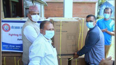 Photo of प्रबासमा रहेका गोर्खालीद्वारा गोरखामा ७० लाखको स्वास्थ्य सामग्री बितरण