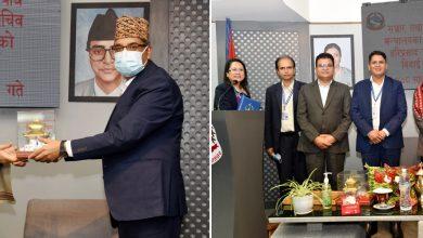 Photo of सञ्चार तथा सूचना प्रविधि मन्त्रालयका सचिव बस्यालको बिदाई