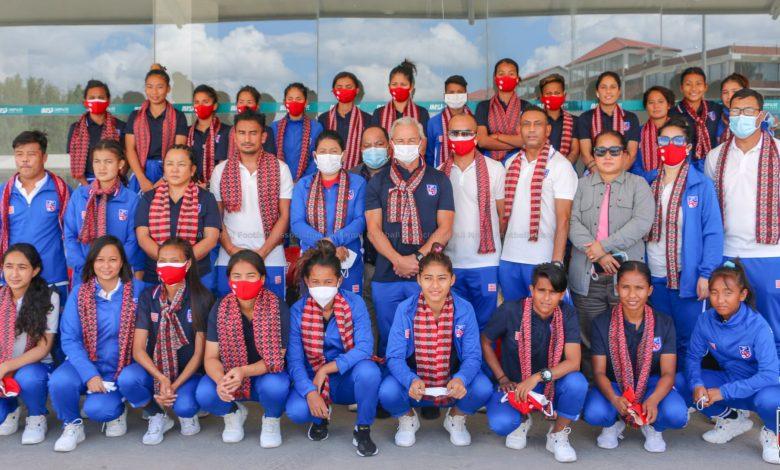 Photo of नेपाली महिला फुटबल टोली स्वदेश फिर्ता